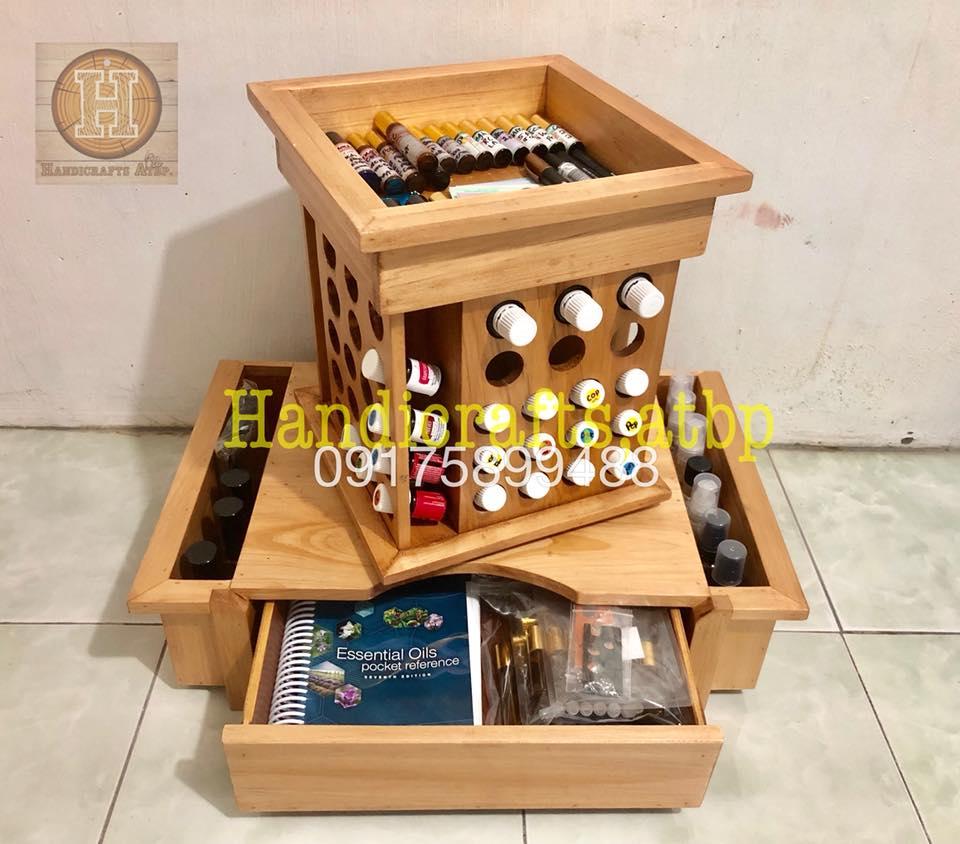 Rotating Essential Oil Organizer Handicrafts Atbp