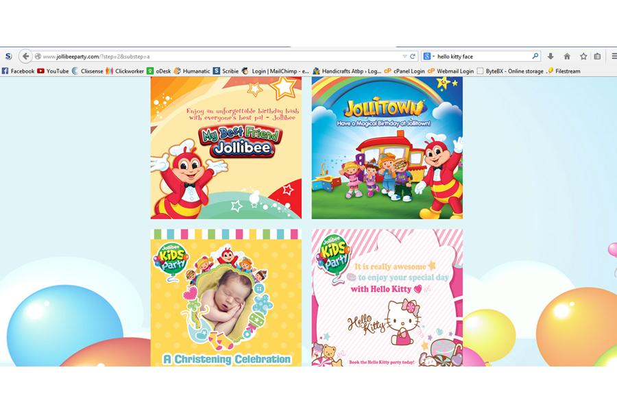 Party preps tharaas jollibee party handicrafts atbp jollibee party themes stopboris