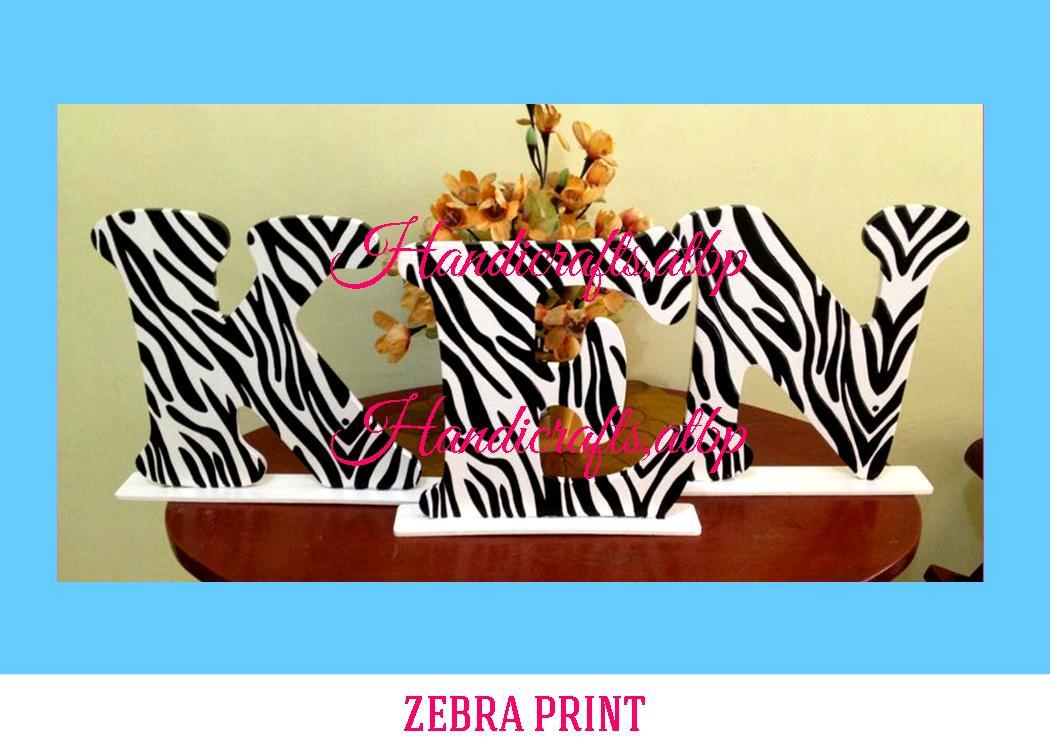 Zebra Print Handicrafts Atbp